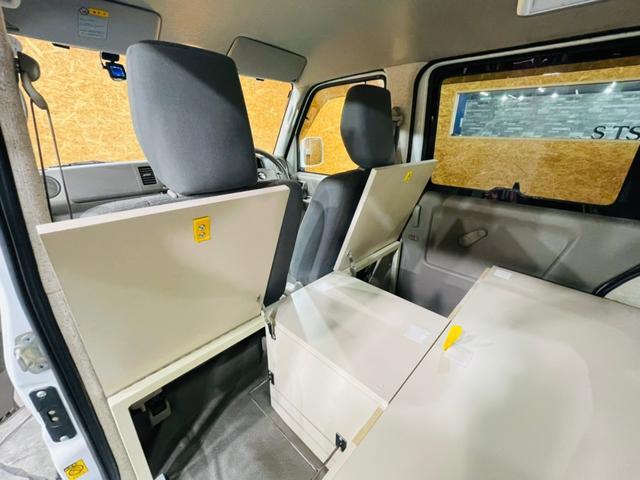 キャンピング仕様 全塗装済み 社外ナビ バックカメラ KENWOODドライブレコーダー サブバッテリー 室内テーブル 補助マット 大容量収納 外部電源 構造変更定員2名 後部座席網戸装着 ETC(34枚目)