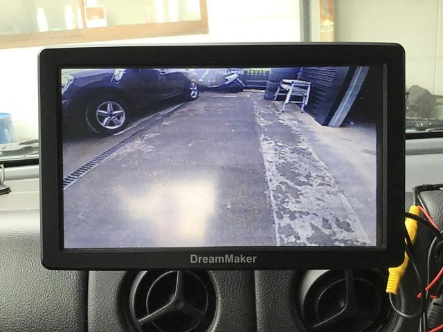 バックカメラもついているので駐車も安心です