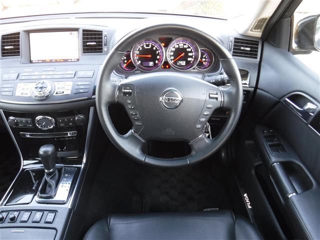 日産 フーガ 350GT タイプP 本革シート メモリーナビ ETC