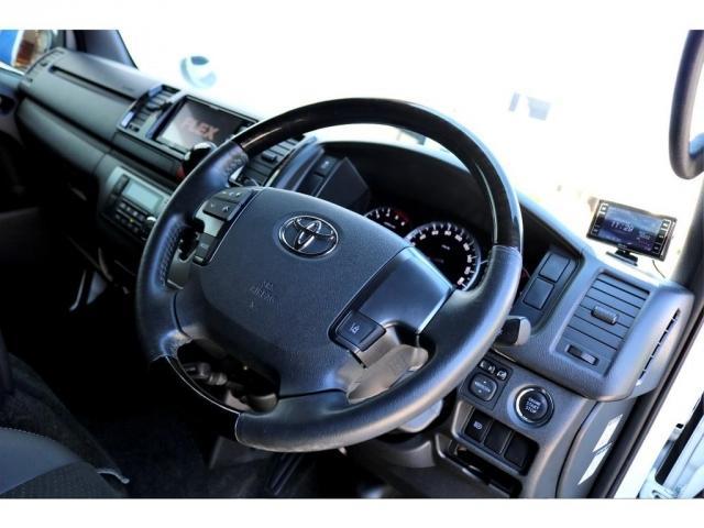 スーパーGL ダークプライムII ディーゼル 2WD 5型 パールホワイト フロントスポイラー 17インチアルミ ナスカータイヤ LEDテール フロア施工 SDナビ ETC バックカメラ LEDヘッドライト スマートキー(13枚目)