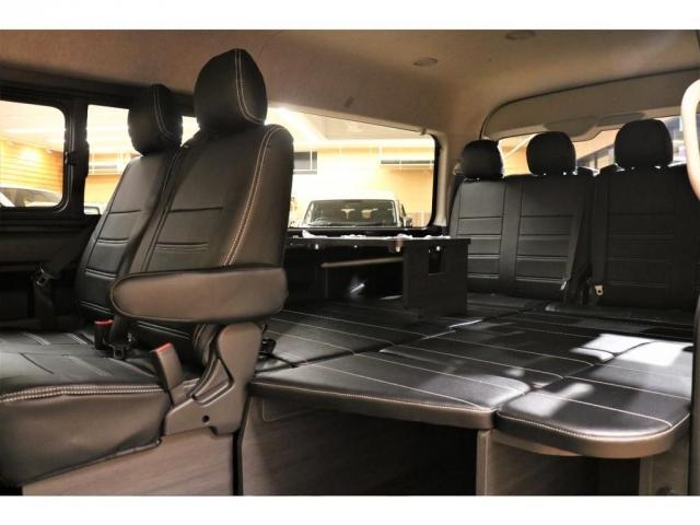 GL ガソリン 4WD 6型 パールホワイト フロントバンパーガード オーバーフェンダー 16インチアルミ オールテレーンタイヤ ベッドキット テーブルキット フロア施工 シートカバー SDナビ ETC(2枚目)