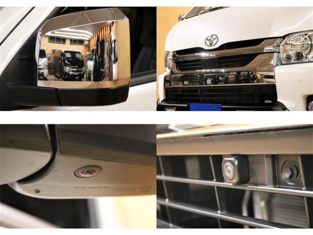 GL ガソリン 4WD 6型 パールホワイト フロントバンパーガード オーバーフェンダー 16インチアルミ オールテレーンタイヤ ベッドキット テーブルキット フロア施工 シートカバー SDナビ ETC(6枚目)