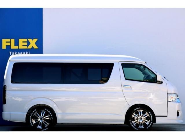 GL ガソリン 4WD 6型 パールホワイト 1.15インチローダウン フロントスポイラー オーバーフェンダー 17インチアルミ H20タイヤ LEDテール ベッド テーブル フロア施工 SDナビ ETC(5枚目)
