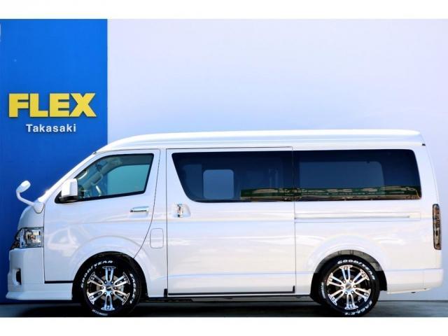 GL ガソリン 4WD 6型 パールホワイト 1.15インチローダウン フロントスポイラー オーバーフェンダー 17インチアルミ H20タイヤ LEDテール ベッド テーブル フロア施工 SDナビ ETC(6枚目)