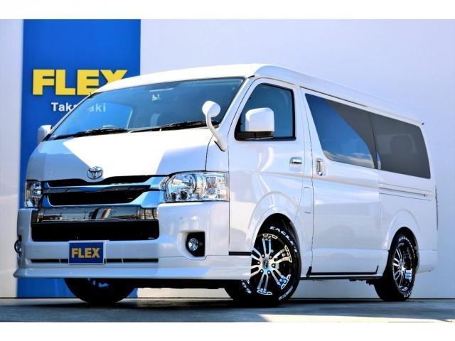 GL ガソリン 4WD 6型 パールホワイト 1.15インチローダウン フロントスポイラー オーバーフェンダー 17インチアルミ H20タイヤ LEDテール ベッド テーブル フロア施工 SDナビ ETC(7枚目)