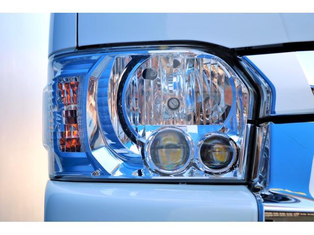 GL ガソリン 4WD 6型 パールホワイト 1.15インチローダウン フロントスポイラー オーバーフェンダー 17インチアルミ H20タイヤ LEDテール ベッド テーブル フロア施工 SDナビ ETC(22枚目)