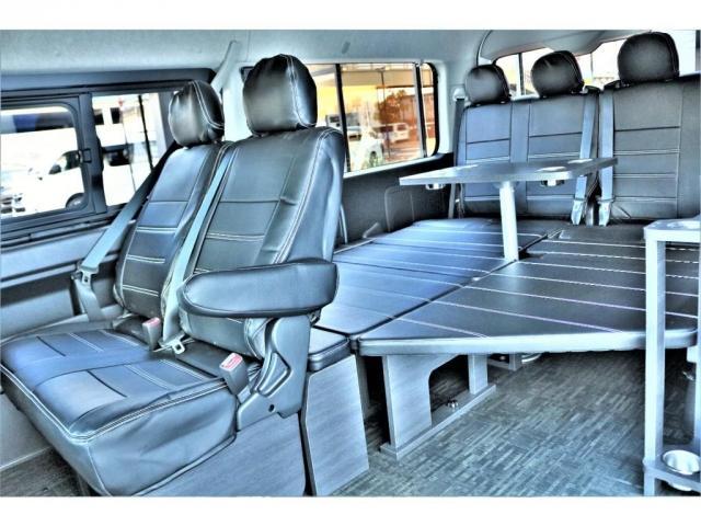 GL ロング ハイエースワゴン GL 2WD パールホワイト Ver1.5 1.5インチローダウン オーバーフェンダー 17インチアルミ LEDテール ベッド テーブル フロア施工 SDナビ ETC フリップダウン(2枚目)