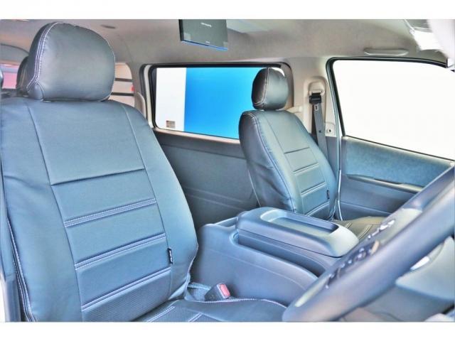 GL ロング ハイエースワゴン GL 2WD パールホワイト Ver1.5 1.5インチローダウン オーバーフェンダー 17インチアルミ LEDテール ベッド テーブル フロア施工 SDナビ ETC フリップダウン(11枚目)