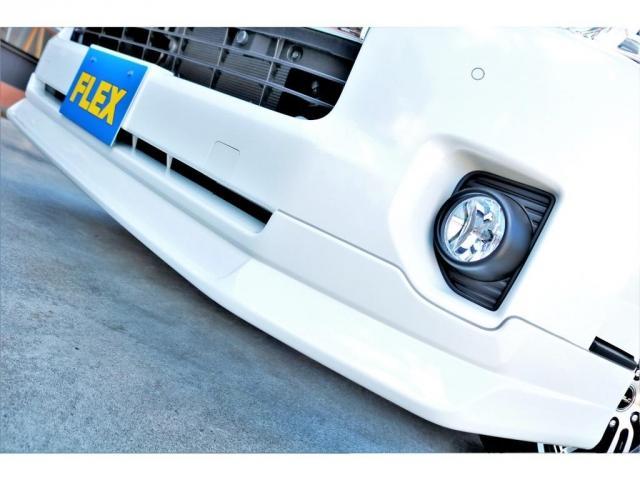 GL ロング ハイエースワゴン GL 2WD パールホワイト Ver1.5 1.5インチローダウン オーバーフェンダー 17インチアルミ LEDテール ベッド テーブル フロア施工 SDナビ ETC フリップダウン(12枚目)