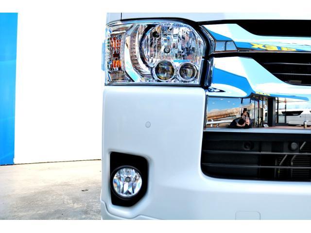 GL ロング ハイエースワゴン GL 2WD パールホワイト Ver1.5 1.5インチローダウン オーバーフェンダー 17インチアルミ LEDテール ベッド テーブル フロア施工 SDナビ ETC フリップダウン(21枚目)