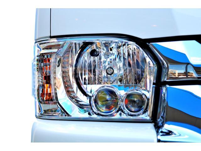GL ロング ハイエースワゴン GL 2WD パールホワイト Ver1.5 1.5インチローダウン オーバーフェンダー 17インチアルミ LEDテール ベッド テーブル フロア施工 SDナビ ETC フリップダウン(22枚目)