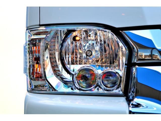 GL ロング ハイエースワゴン GL 2WD パールホワイト Ver1.5 1.5インチローダウン オーバーフェンダー 17インチアルミ LEDテール ベッド テーブル フロア施工 SDナビ ETC フリップダウン(23枚目)