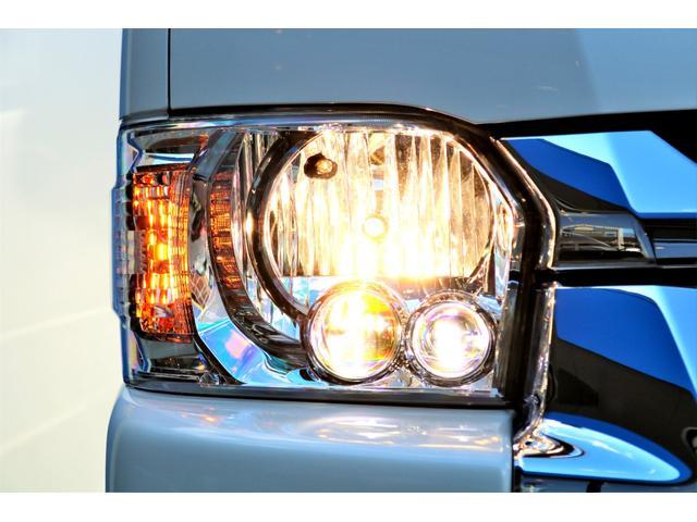 GL ロング ハイエースワゴン GL 2WD パールホワイト Ver1.5 1.5インチローダウン オーバーフェンダー 17インチアルミ LEDテール ベッド テーブル フロア施工 SDナビ ETC フリップダウン(26枚目)