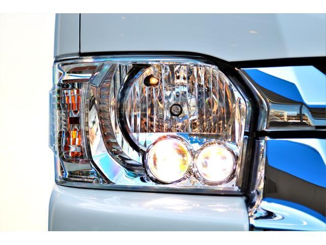 DX ワイド スーパーロング GLパッケージ ハイエースバン DX スーパーロング ディーゼルターボ 4WD 6型 パールホワイト  フロア施工 17インチアルミ オーバーフェンダー フロントスポイラー LEDテールランプ 8インチSDナビ(23枚目)