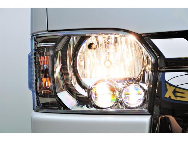 スーパーGL ダークプライムII ロングボディ パールホワイト 4WD 6型 バンパーガード オーバーフェンダー 16インチAW TOYOオープンカントリータイヤ LEDテールランプ  SDナビ(25枚目)