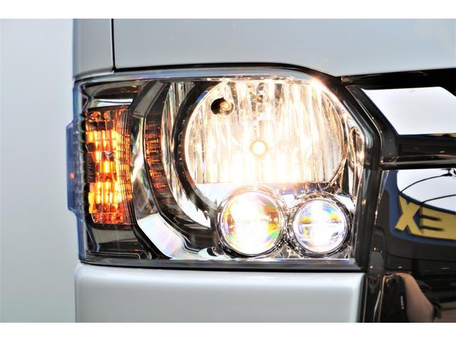 スーパーGL ダークプライムII ロングボディ パールホワイト 4WD 6型 バンパーガード オーバーフェンダー 16インチAW TOYOオープンカントリータイヤ LEDテールランプ  SDナビ(26枚目)