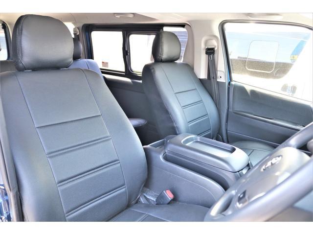 ロングスーパーGL 2WD 4型 TSS付き ダークブルーM フロントスポイラー 17インチAW ホワイトレタータイヤ 1.5ローダウン アルティメットLEDテール シートカバー SDナビ(5枚目)