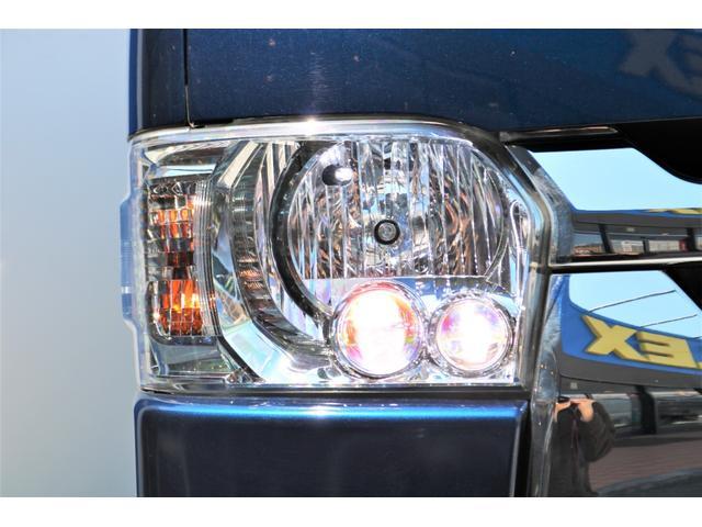 ロングスーパーGL 2WD 4型 TSS付き ダークブルーM フロントスポイラー 17インチAW ホワイトレタータイヤ 1.5ローダウン アルティメットLEDテール シートカバー SDナビ(24枚目)