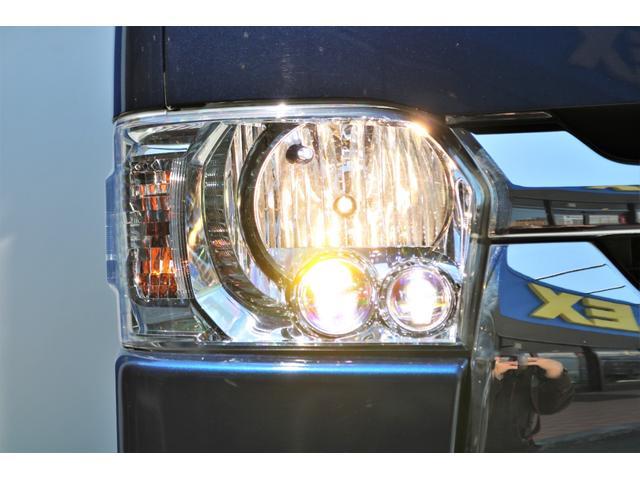 ロングスーパーGL 2WD 4型 TSS付き ダークブルーM フロントスポイラー 17インチAW ホワイトレタータイヤ 1.5ローダウン アルティメットLEDテール シートカバー SDナビ(25枚目)