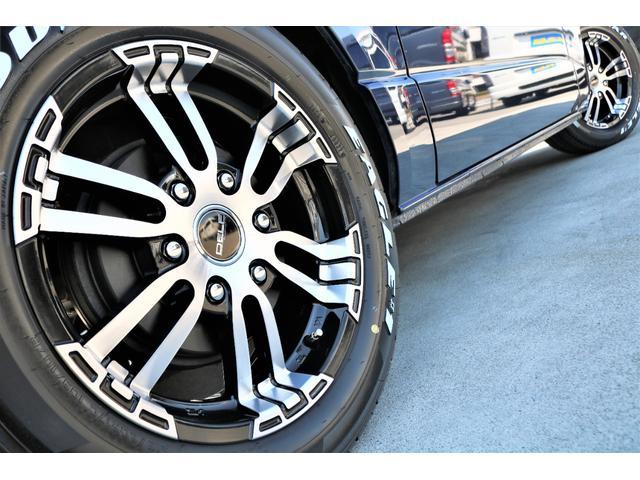 ロングスーパーGL 2WD 4型 TSS付き ダークブルーM フロントスポイラー 17インチAW ホワイトレタータイヤ 1.5ローダウン アルティメットLEDテール シートカバー SDナビ(38枚目)