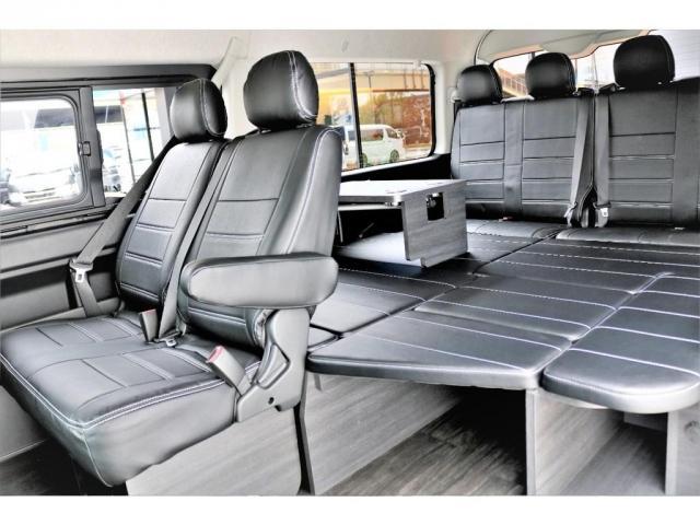 GL ロング 2WD ガソリン 6型 パール 内装架装Ver1 フロントスポイラー オーバーフェンダー 17インチAW 1.5インチローダウン SDナビ フリップD シートカバー(2枚目)