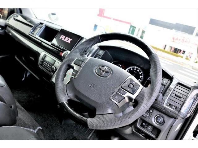 GL ロング 2WD ガソリン 6型 パール 内装架装Ver1 フロントスポイラー オーバーフェンダー 17インチAW 1.5インチローダウン SDナビ フリップD シートカバー(7枚目)