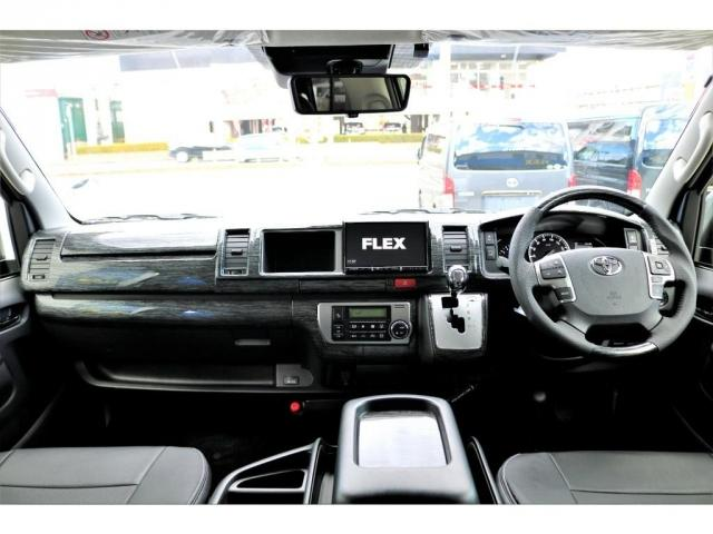 GL ロング 2WD ガソリン 6型 パール 内装架装Ver1 フロントスポイラー オーバーフェンダー 17インチAW 1.5インチローダウン SDナビ フリップD シートカバー(8枚目)