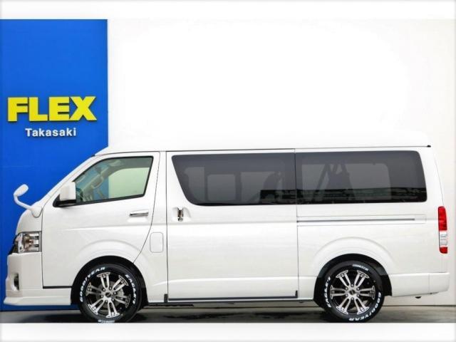 GL ロング 2WD ガソリン 6型 パール 内装架装Ver1 フロントスポイラー オーバーフェンダー 17インチAW 1.5インチローダウン SDナビ フリップD シートカバー(17枚目)