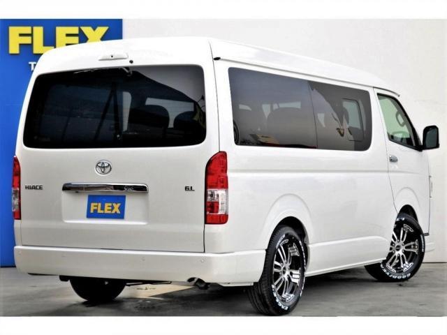 GL ロング 2WD ガソリン 6型 パール 内装架装Ver1 フロントスポイラー オーバーフェンダー 17インチAW 1.5インチローダウン SDナビ フリップD シートカバー(18枚目)