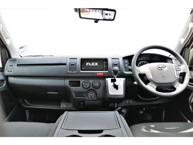 ロングDX GLパッケージ 6型 ライトイエロー フロントスポイラー オーバーフェンダー 2インチローダウン 16インチAW バックカメラ TSS装置 ベッドキット SDナビ ビルトインETC(5枚目)