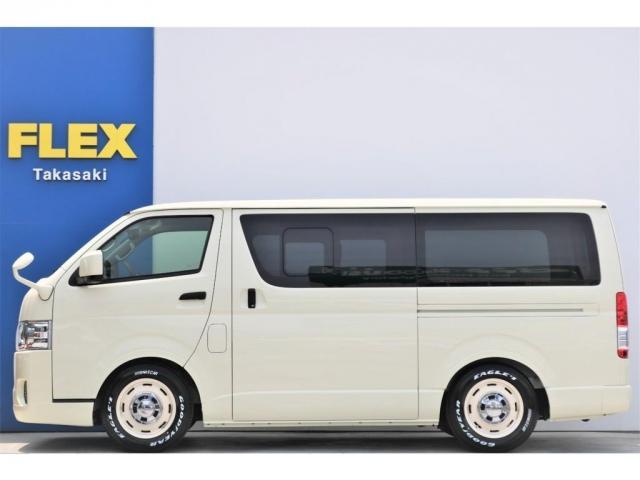 ロングDX GLパッケージ 6型 ライトイエロー フロントスポイラー オーバーフェンダー 2インチローダウン 16インチAW バックカメラ TSS装置 ベッドキット SDナビ ビルトインETC(17枚目)