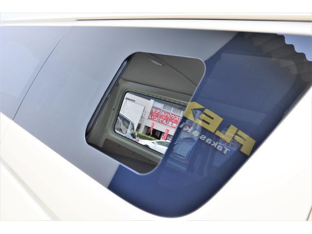 ロングDX GLパッケージ 6型 ライトイエロー フロントスポイラー オーバーフェンダー 2インチローダウン 16インチAW バックカメラ TSS装置 ベッドキット SDナビ ビルトインETC(33枚目)