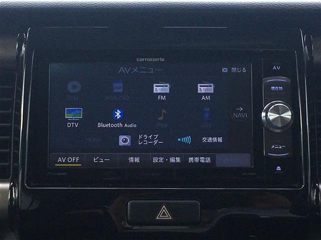 JスタイルIIターボ 社外ナビTV AM FM BT DVD CD 衝突軽減ブレーキ 純正アルミホイール シートヒーター レザーハンドル パドルシフト ハンドルスイッチ スマートキー(7枚目)