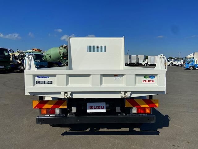 ダンプ 6MT・新明和強化1方開・積載3.750kg・助手席側電格ミラー・距離14.000km・取説・保証書(3枚目)