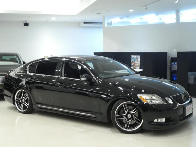 GS430 黒革 車高調 ワーク19インチ マークレビンソン(4枚目)