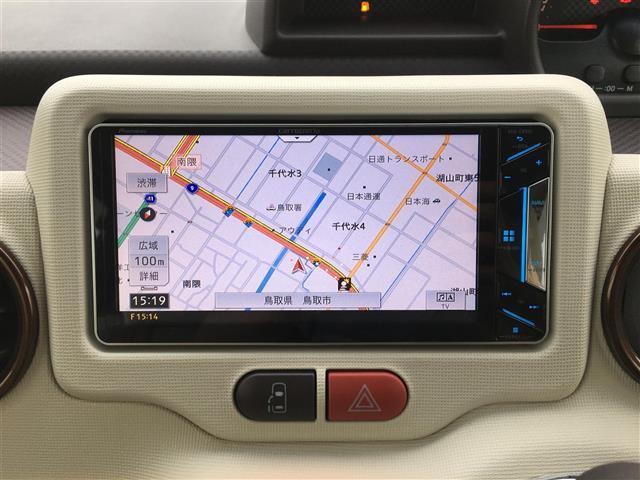 F アラモード ドゥ ・社外7型メモリナビ・フルセグTV・Bluetooth・社外前後録画ドライブレコーダー・パワースライドドア・バックカメラ・スマートキー・HIDライト・プッシュスタート(4枚目)