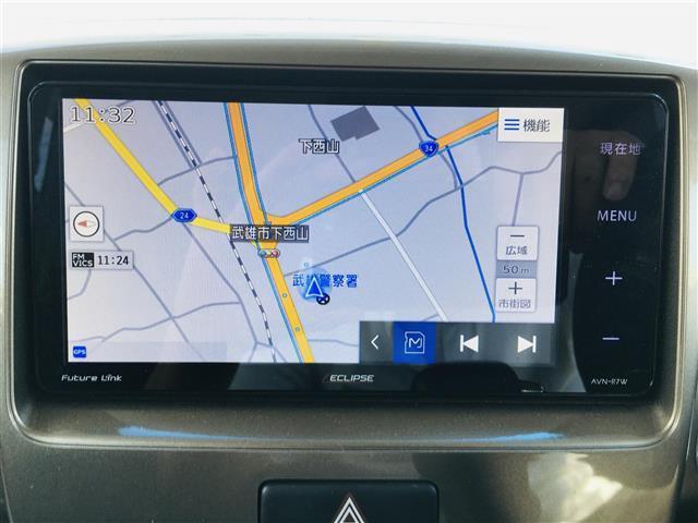 ベースグレード 社外7型ナビ AM FM CD DVD USB フルセグ Bluetoothオーディオ ミュージックサーバー 左側パワースライドドア 運転席シートヒーター ステアリングスイッチ(4枚目)