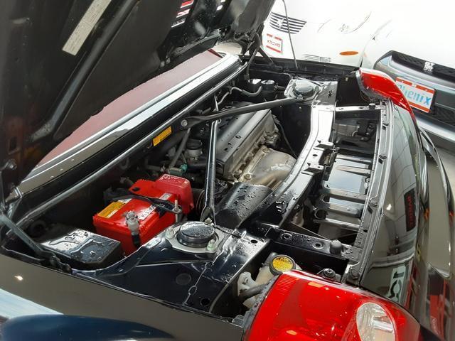Vエディションファイナルバージョン 6速シーケンシャル エアロ 専用赤革シート Rays16&17インチアルミホイール 柿本マフラー トヨタ純正HDDナビ VVTi アルミペダル 赤革コンビハンドル ステアシフト オープントップ(65枚目)