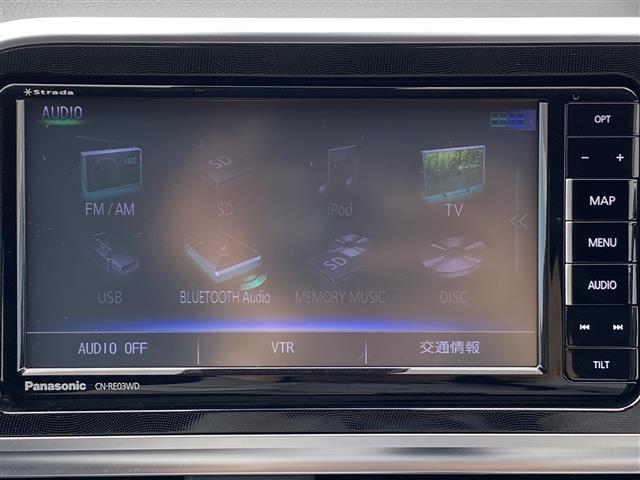G stradaメモリナビ 両側パワスラ アイドリングストップ 衝突被害軽減システム レーンキープアシスト 横滑り防止装置 HIDヘッドライト プッシュスタート レザーステアリング ステアリングスイッチ(7枚目)