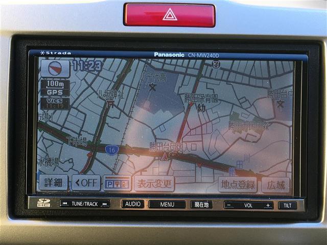 G ジャストセレクション 社外メモリナビ CN-MW240D/フルセグTV/CD/SD/バックカメラ/両側パワースライドドア/オートエアコン/HIDヘッドライト/オートライト/社外14インチ/電動格納ミラー/純正フロアマット(4枚目)