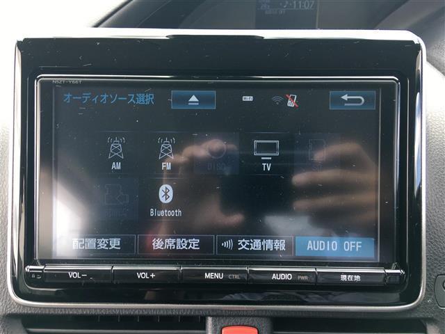 ZS 純正SDナビ CD DVD BT フルセグテレビ バックカメラ 衝突被害軽減ブレーキ 車線逸脱警報 横滑り防止装置 左側パワースライドドア フリップダウンモニター プッシュスタート スマートキー(4枚目)