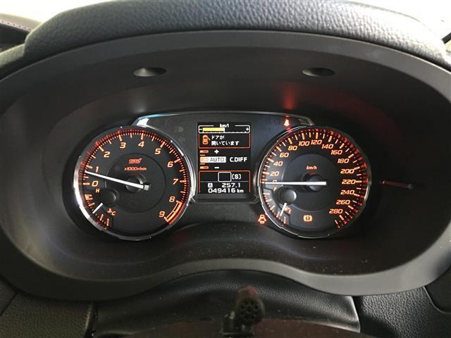 STI タイプS4WD 6MT 社外メモリナビ 純正18AW(12枚目)