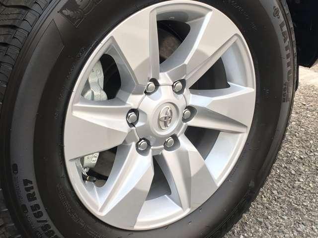◆265/65R17タイヤ&17×71/2Jアルミホイール【シルバーメタリック塗装】