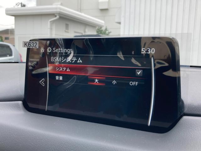 ◆ブラインドスポットモニタリング【レーダーで隣車線上の側方および後方から接近する車両を検知すると、検知した側のドアミラーの鏡面に備えたインジケーターの点灯でドライバーに通知します。】
