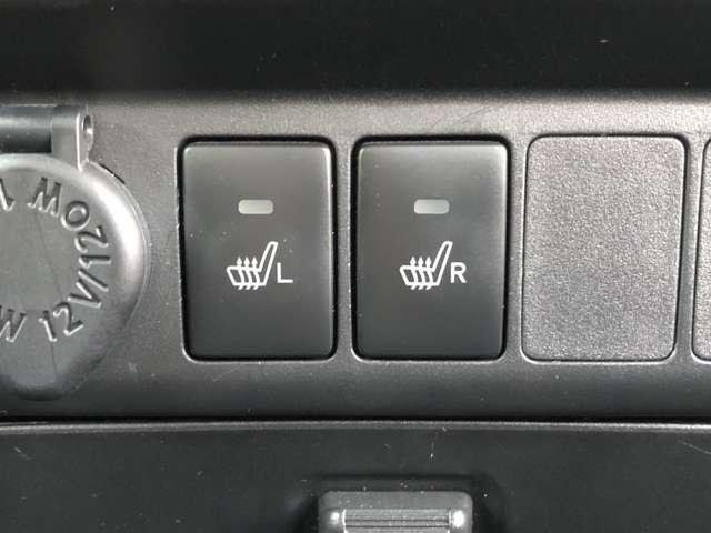 【シートヒーター】運転席、助手席シートヒーターでウヒュでも暖かいです。
