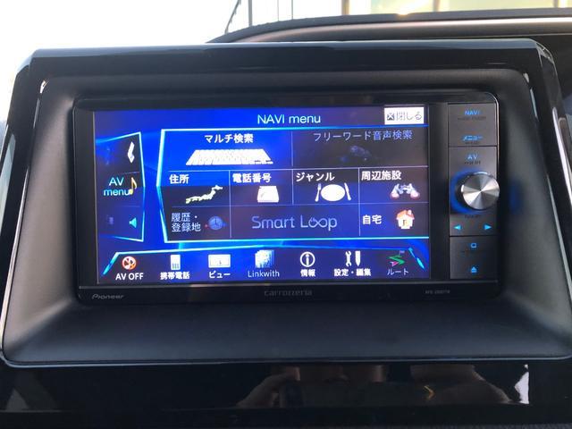 【カロッツェリアSDナビ】フルセグTV、FM、AM、CD、DVD、BTが使用可能です。