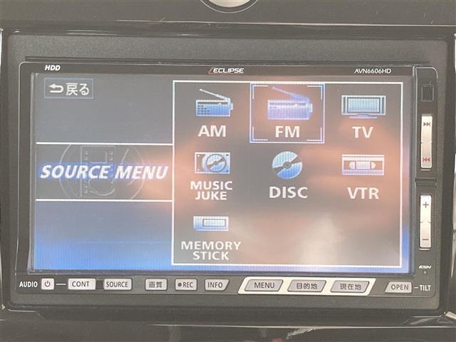 C 社外HDDナビ/CD/DVD再生/MSV/ビルトインETC/フォグランプ/ヘッドライトレベライザー/電動格納ミラー/スマートキー/プライバシーガラス/オートエアコン(9枚目)