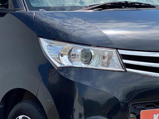 ハイウェイスター ナビ Bluetooth パワスラ スマートキー プッシュスタート 14AW HID オートAC バイザー PVガラス ベンチシート ABS イモビライザー タイミングチェーン 整備保証付(24枚目)
