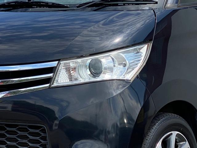 ハイウェイスター ナビ Bluetooth パワスラ スマートキー プッシュスタート 14AW HID オートAC バイザー PVガラス ベンチシート ABS イモビライザー タイミングチェーン 整備保証付(25枚目)