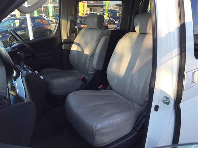 ハイウェイスタースタイリッシュシルバーレザー 4WD 本革シート オットマン 両側パワースライドドア フリップダウンモニター メーカーナビ フルセグTV CD MD パワーシート シートヒーター ETC AFS スマートキー 電動格納ミラー(11枚目)